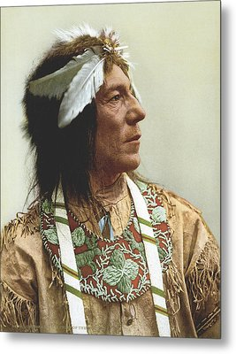 Obtossaway, An Ojibwa Chief Metal Print by Underwood Archives