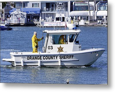 Oc Sheriff Ready For The Fire Metal Print by Shoal Hollingsworth