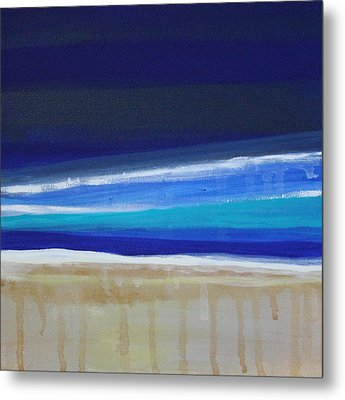 Ocean Blue Metal Print by Linda Woods