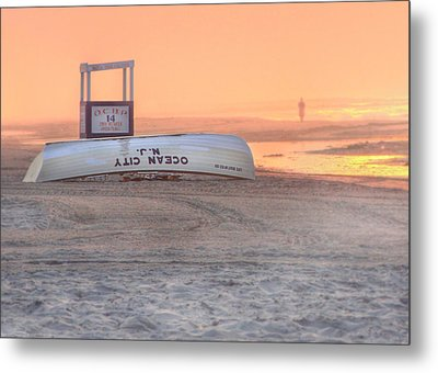 Ocean City Beach Patrol Metal Print by Lori Deiter