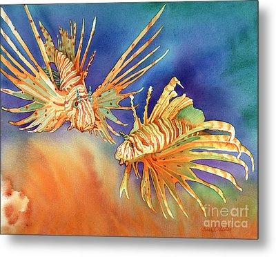 Ocean Lions Metal Print by Tracy L Teeter