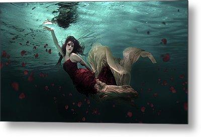 Ocean Of Roses Metal Print by Martha Suherman