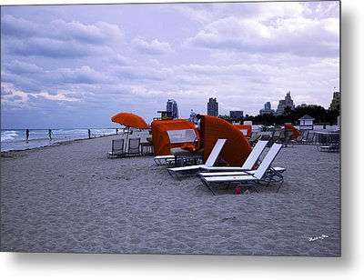 Ocean View 6 - Miami Beach - Florida Metal Print by Madeline Ellis