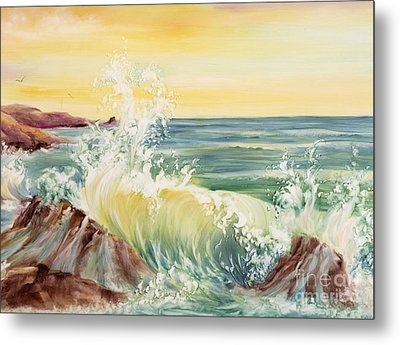 Ocean Waves II Metal Print by Summer Celeste