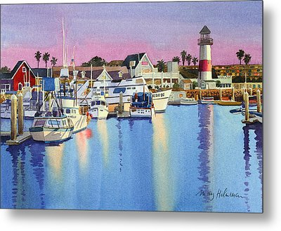 Oceanside Harbor At Dusk Metal Print by Mary Helmreich