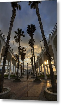 Oceanside Pier Entrance Metal Print by Peter Tellone