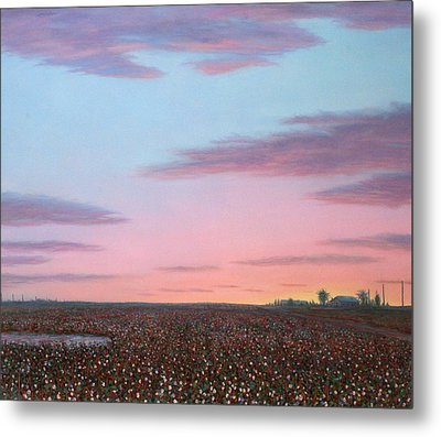 October Cotton Metal Print by James W Johnson