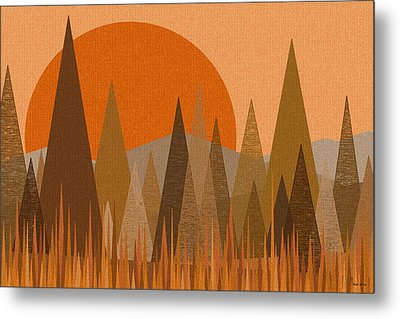 October Sunset Metal Print by Val Arie