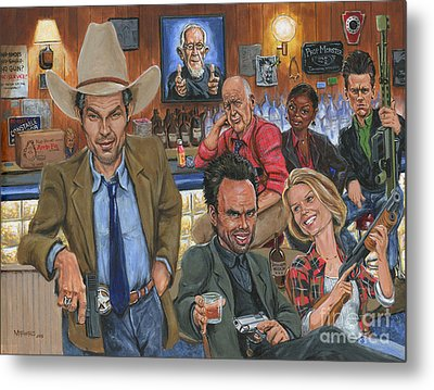 Ode To Justified Metal Print by Mark Tavares