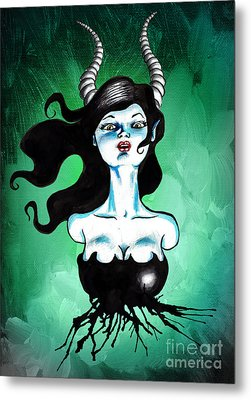 Ode To Maleficent Metal Print by Christopher Moonlight