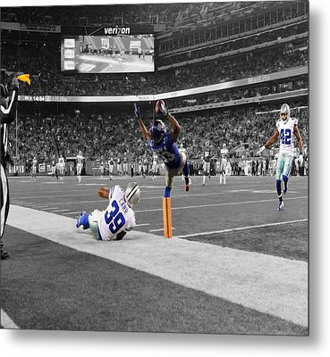 Odell Beckham Breaking The Internet Metal Print by Brian Reaves