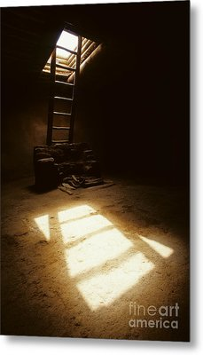 Of Light And Shadow Pecos Ruin Metal Print by Bob Christopher