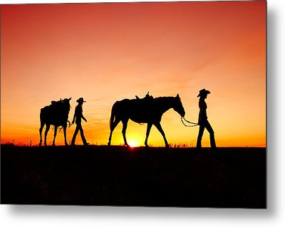 Off To The Barn Metal Print by Todd Klassy