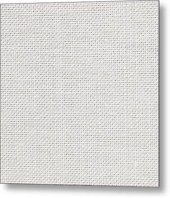 Off White Textile Metal Print by Tom Gowanlock