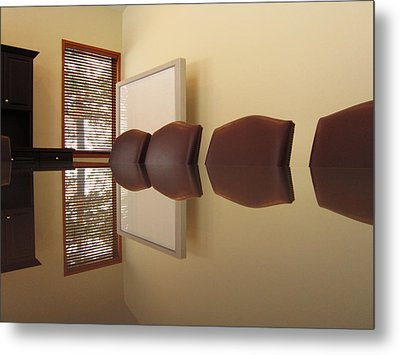 Office Reflection 2 Metal Print by Mary Bedy