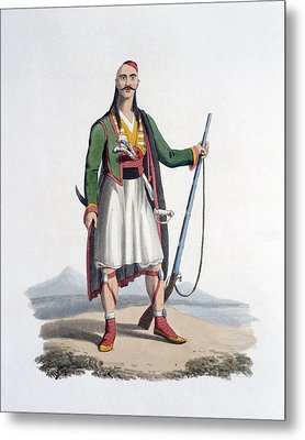 Officer Of The Spahis, 1818 Metal Print by English School