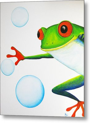 Oh Bubbles Metal Print by Oiyee At Oystudio