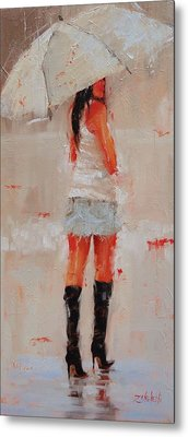 Oh Those Boots Metal Print by Laura Lee Zanghetti