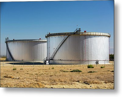 Oil Field Infrastructure Metal Print by Ashley Cooper