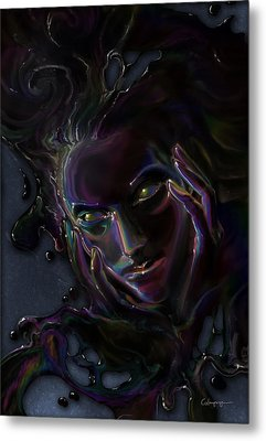 Oil Spill Metal Print by Cassiopeia Art