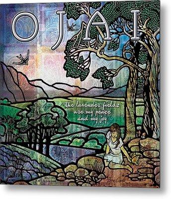 Ojai California Lavender Fields Metal Print by Evie Cook