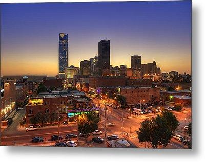 Oklahoma City Nights Metal Print by Ricky Barnard