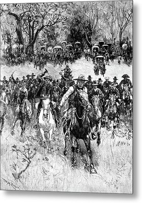 Oklahoma Land Rush, 1891 Metal Print by Granger