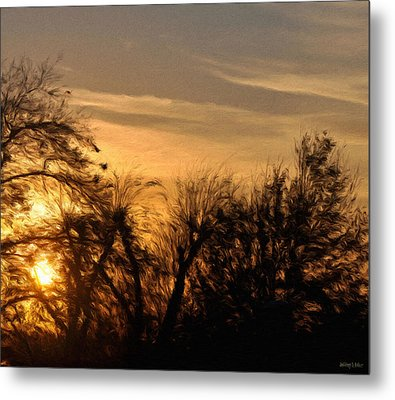 Oklahoma Sunset Metal Print by Jeff Kolker