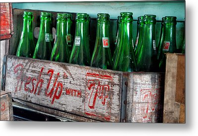 Old 7 Up Bottles Metal Print by Thomas Woolworth