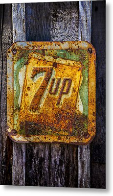 Old 7 Up Sign Metal Print by Garry Gay