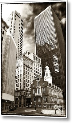 Old And New In Boston Metal Print by John Rizzuto
