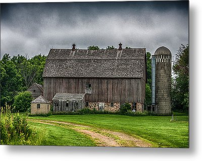 Old Barn On A Stormy Day Metal Print by Paul Freidlund
