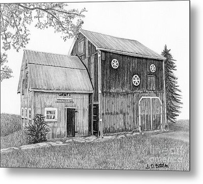 Old Barn Metal Print by Sarah Batalka