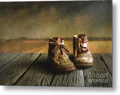 Old Boots Metal Print by Veikko Suikkanen