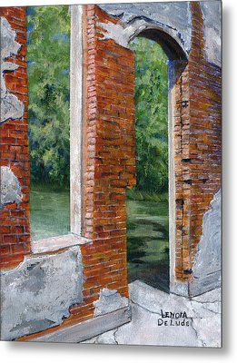 Old Building In Pleasant Hill Louisiana Metal Print by Lenora  De Lude
