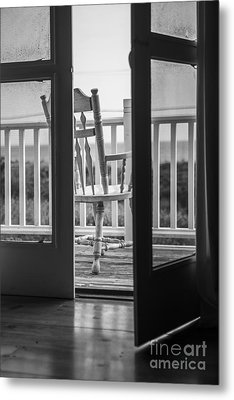 Old Chair At The Beach House Metal Print by Diane Diederich