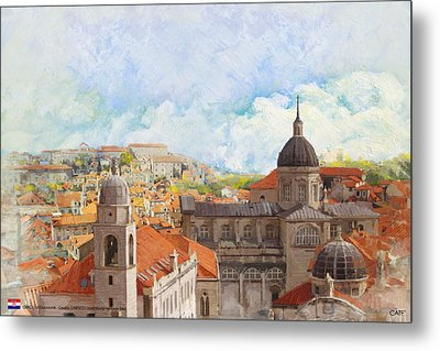 Old City Of Dubrovnik Metal Print by Catf