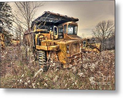 Old Construction Truck Metal Print by Dan Friend