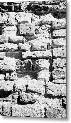 Old Crumbling Red Bricks In Building In Kazimierz Krakow Metal Print by Joe Fox