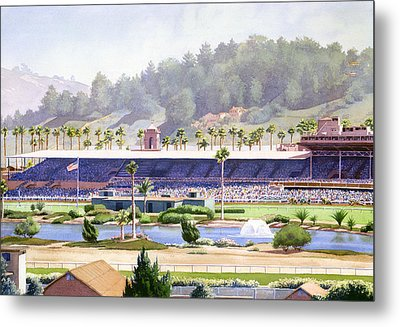 Old Del Mar Race Track Metal Print by Mary Helmreich