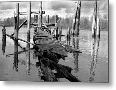 Old Dock Metal Print by David Griffith