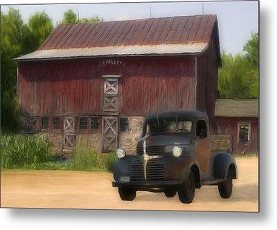 Old Dodge Truck Metal Print by Jack Zulli