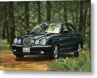 Old Faithful 2000 Jag Metal Print by Don  Langeneckert
