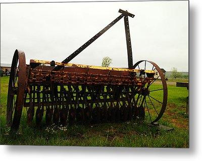Old Farm Equipment Metal Print by Jeff Swan