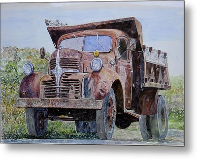 Old Farm Truck Metal Print by Anthony Butera