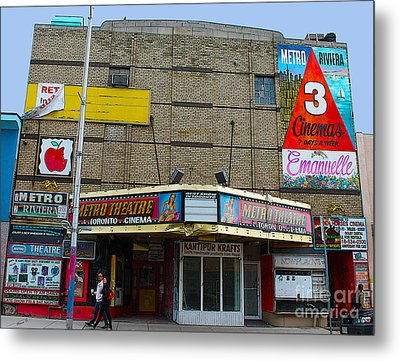Old Film Theatre In Decay Metal Print by Nina Silver
