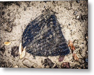 Old Forgotten Wool Cap Lying On The Ground Metal Print by Matthias Hauser
