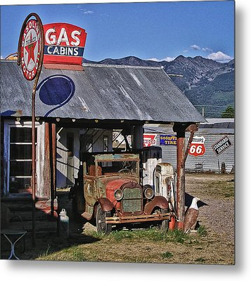 Old Gas Cabin Metal Print by Marvin Blaine