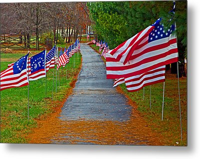 Old Glory Metal Print by Andy Lawless