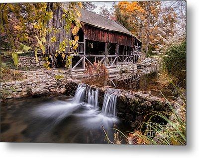 Old Grist Mill - Macedonia Connecticut  Metal Print by Thomas Schoeller